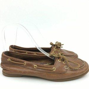 Sperry Top Sider Flats Size 6.5 Leather Boat Shoes